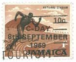 Jamaican 1969 Runner Stamp