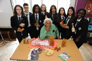 Charlie Phillips and students from Park View Community School